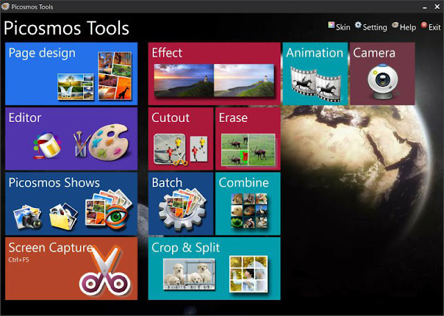 برنامج شامل للتعامل مع الصور: دمج وتقسيم وتحويل وتحرير