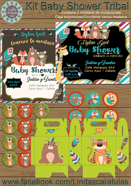 Kit Baby Shower Tribal
