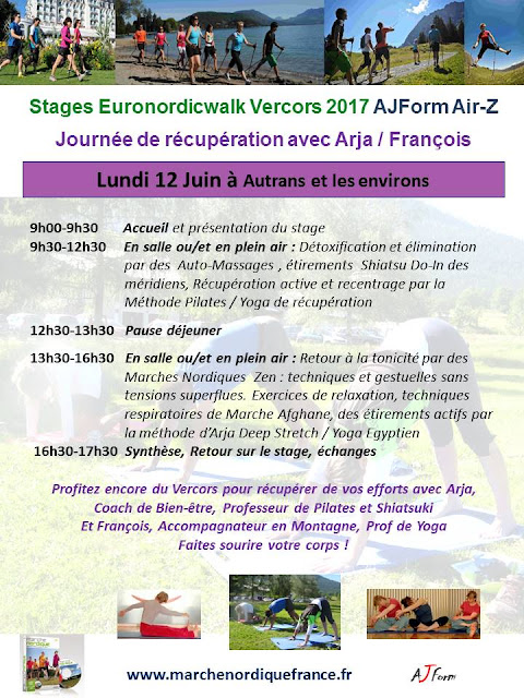 Journée de récupération après Euronordicwalk Vercors 2017