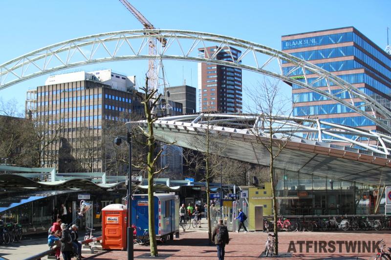 Blaak metro and train station Rotterdam Nederland