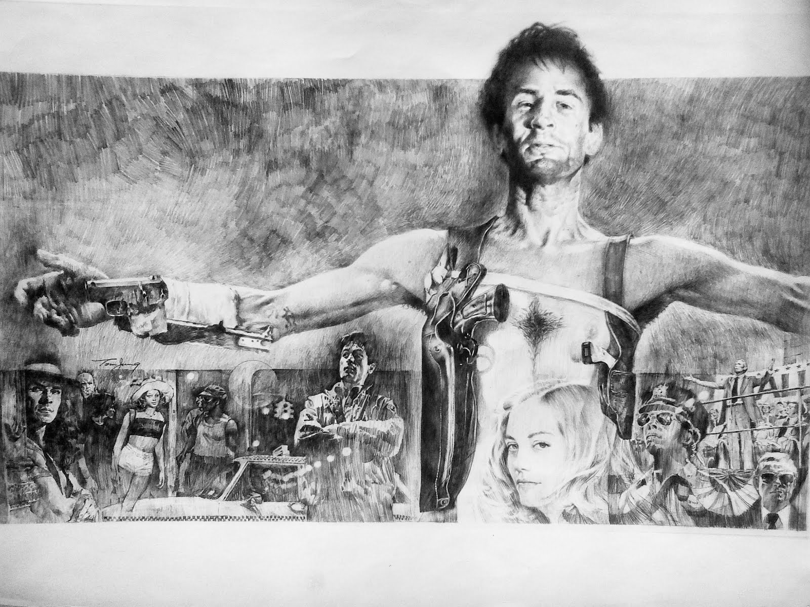 the geeky nerfherder: #artoftheday: 'taxi driver'tom jung
