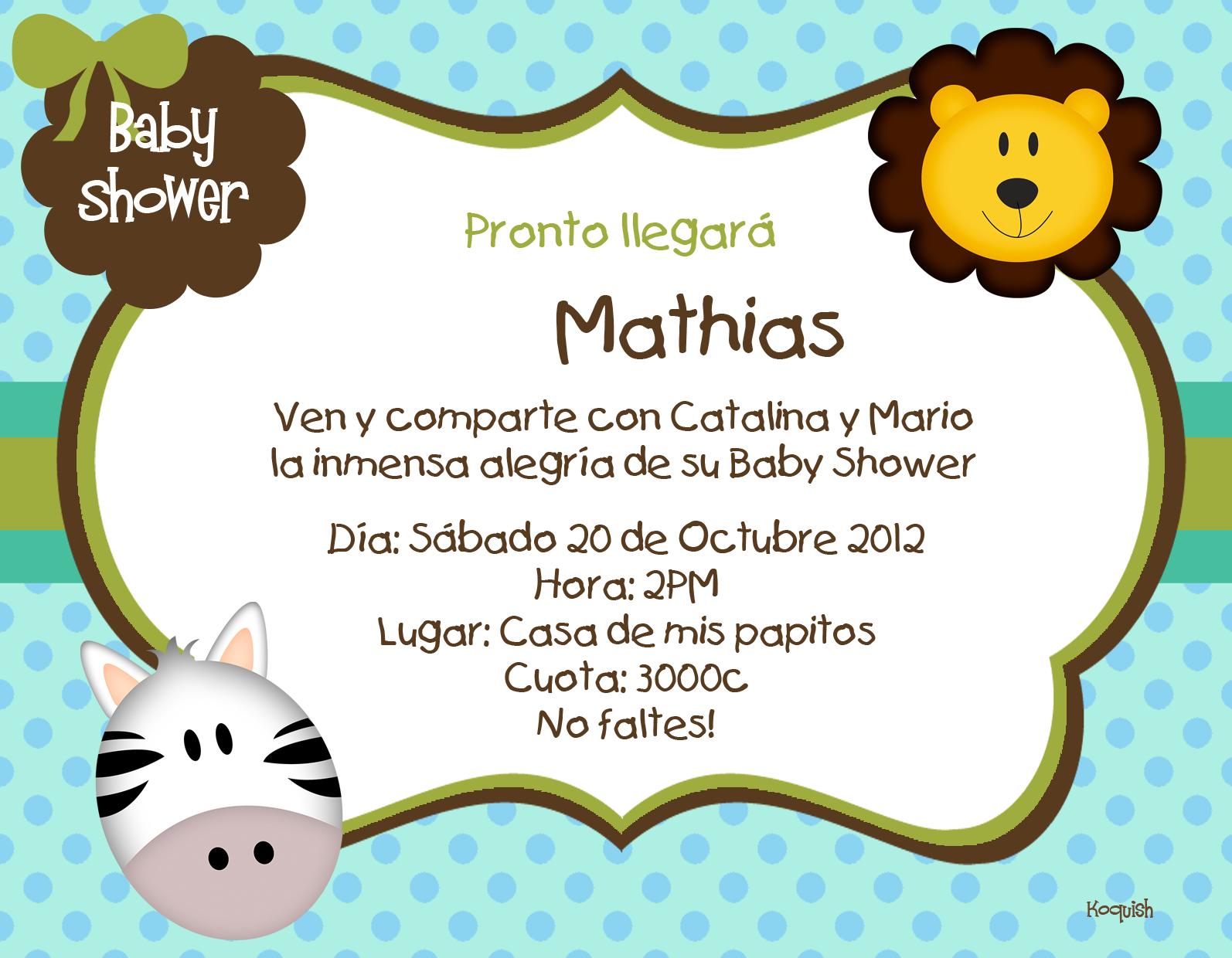 Safari Baby Shower Invitations Online Free