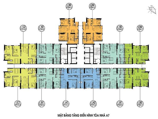 Mặt bằng tòa A7 chung cư An Bình City