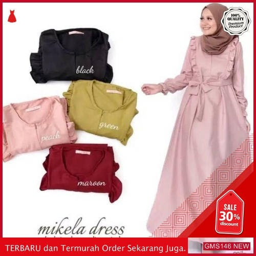 GMS146 FLFXN146G32 Gamis Mikela Dress Sleting Depan Dropship SK1148619058
