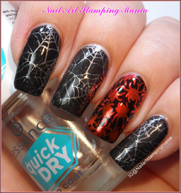 Nail Art Stamping Mania: Spider Web Manicure With Nail Foil and ...