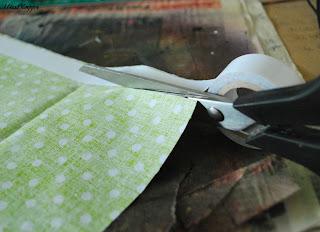 DIY selbstklebende Stoffbänder: Schritt 2