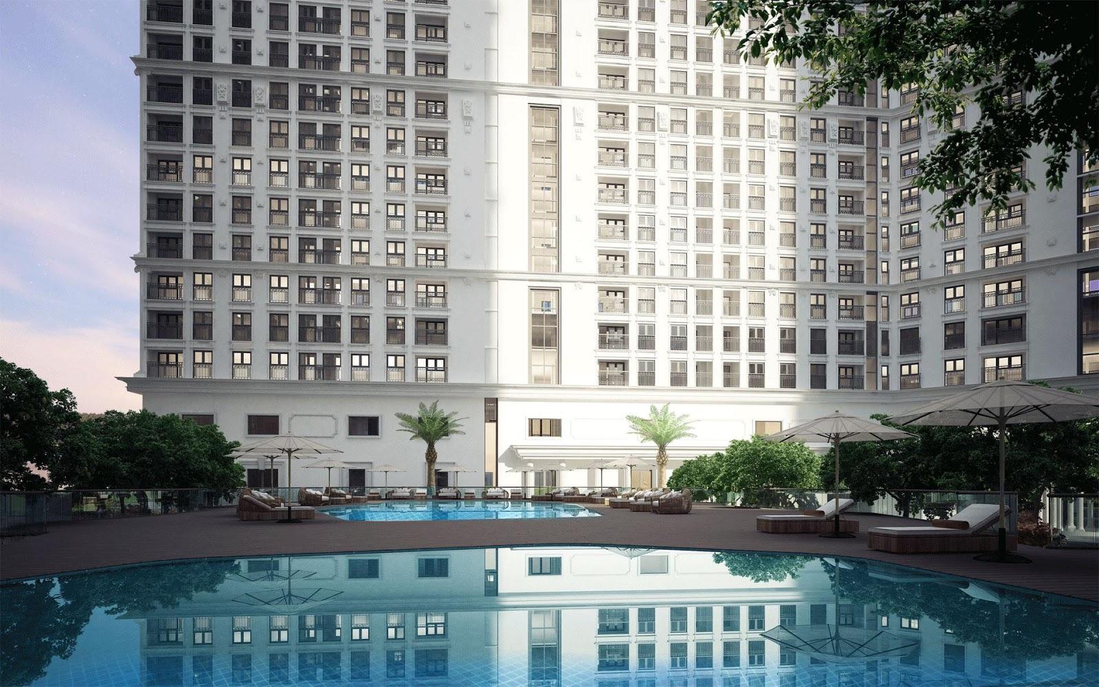 Bể bơi hiện đại tại chung cư The Emerald