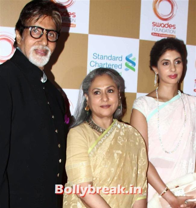 Amitabh Bachchan, Jaya Bachchan and Shweta, Sonakshi Sinha, Shilpa Shetty at Swades Foundation Fundraiser