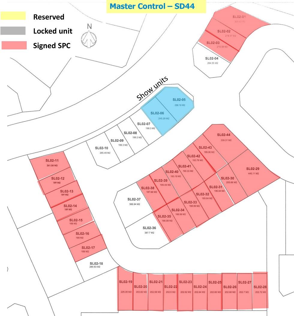 Update bảng hàng biệt thự song lập SD44 Gamuda Gardens