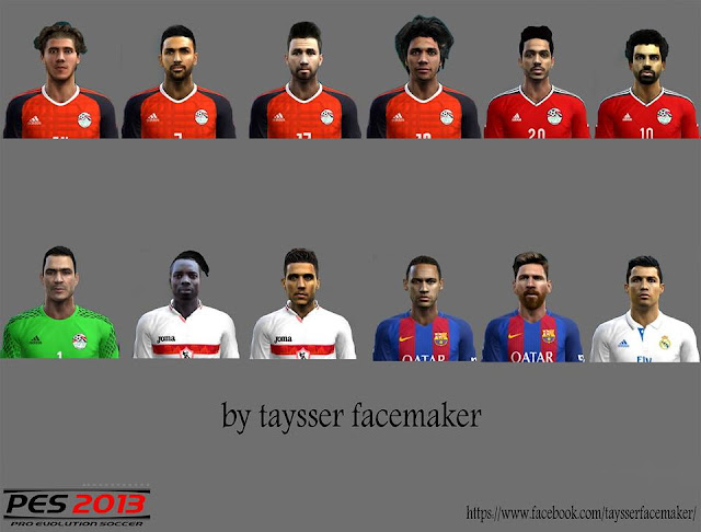 PES 2013 Facepack Update Part 1 By Taysser Facemaker
