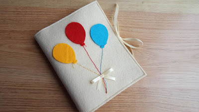 DIY Balloons Notebook Cover