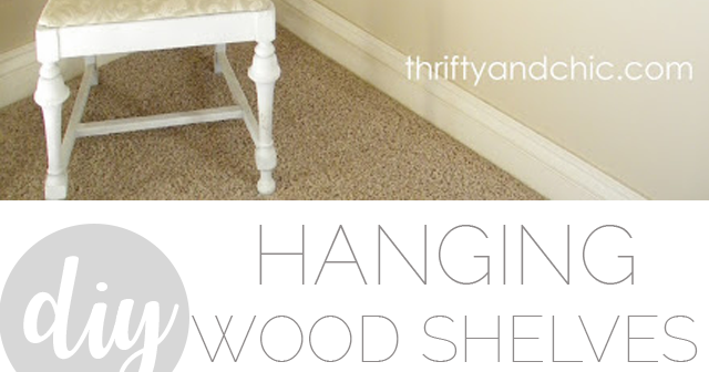 DIY Farmhouse Hanging Shelves