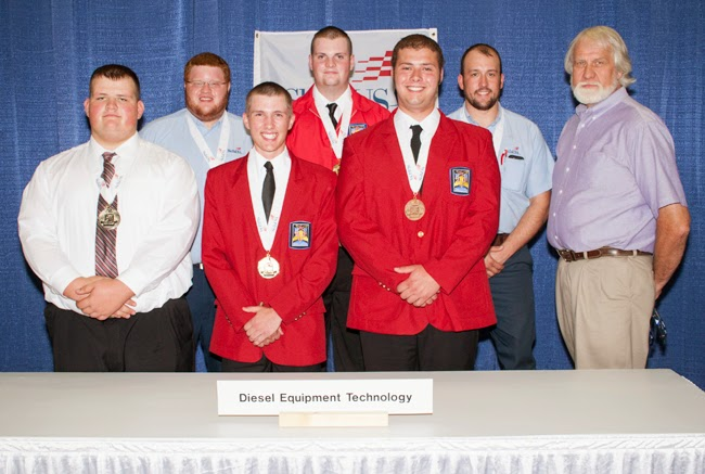 Dustin Jenne received a bronze medal while competing at the SkillsUSA Championships