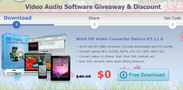 Download WinX HD Video Converter - Easter Free Giveaway