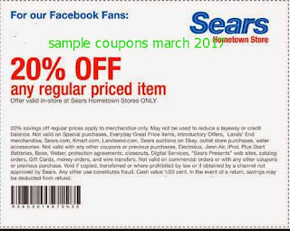 Sears coupons march