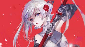 Anime, Beautiful, Girl, Warrior, Sword, Fantasy, 4K, #301