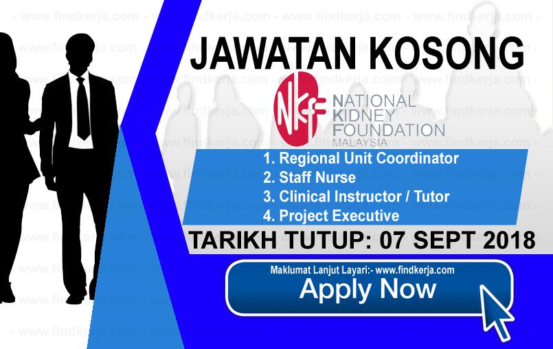 Jawatan Kerja Kosong NKF - Yayasan Buah Pinggang Kebangsaan Malaysia logo www.ohjob.info www.findkerja.com september 2018