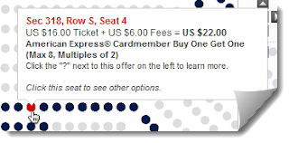 American Express Buy One Get One Tickets for US Open