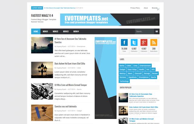 Download Gratis Template Blogger terbaru Mas sugeng