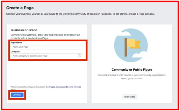 Set Up Facebook Page