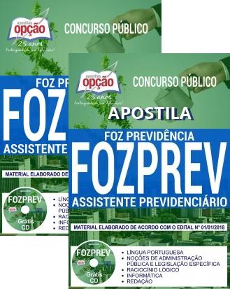 Apostila Foz Previdência 2018 - Assistente Previdenciário