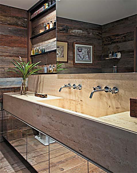 To da loos: Wallmount sink faucet backsplash ideas plus tips for ... - Countertop Backsplash Combo