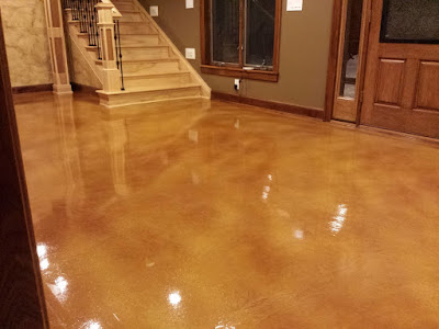 metallic epoxy floor coating for luxury interior designs