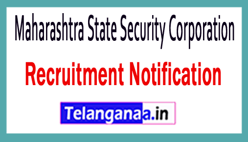 Maharashtra State Security Corporation MSSC Recruitment