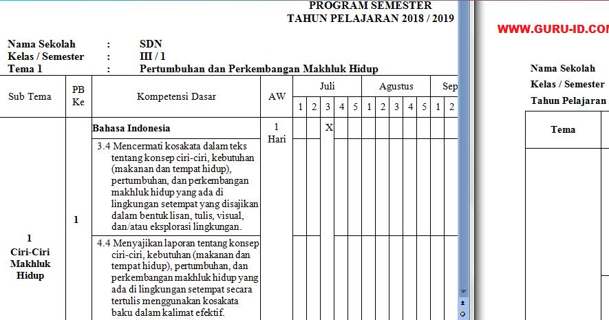 Panduan Penyusunan Prota Dan Promes K13 Sd Smp Sma Revisi 2019 Info Pendidikan Terbaru