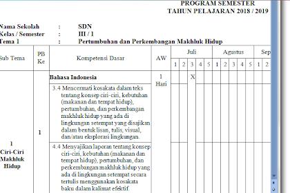 Panduan Penyusunan Prota Dan Promes k13 SD SMP SMA Revisi 2019