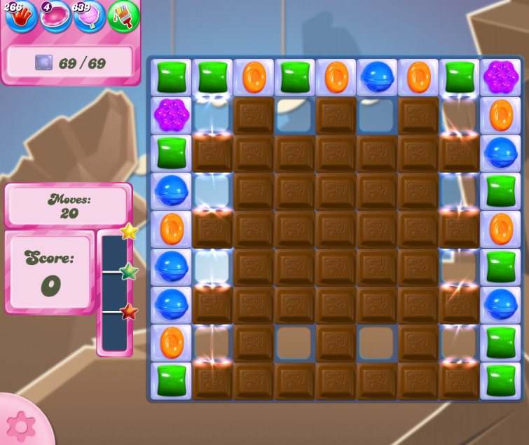 Candy Crush Saga level 2619