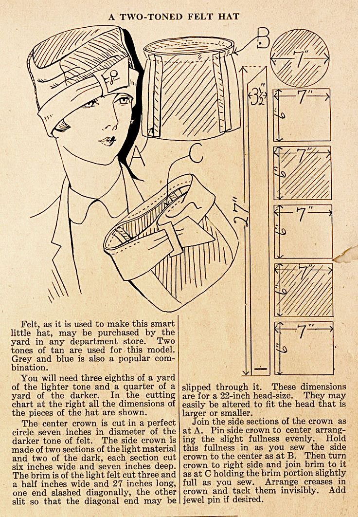 1920s Cloche Hat Pattern  AllFreeSewingcom