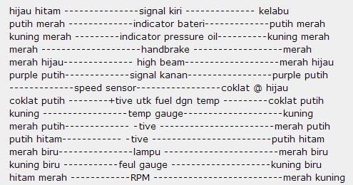 BESIHITAM AUTOPARTS: DIAGRAMWIRING METER MIRA L200S KE