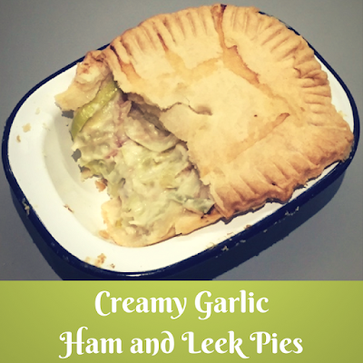 Ham and Leek Pies pinnable image