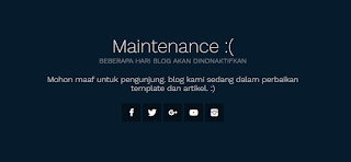 pasti anda harus memberhentikan visitor masuk agar memperbaiki masalah blog anda. misalnya cara nya membuat tampilan maintenance diblog anda.