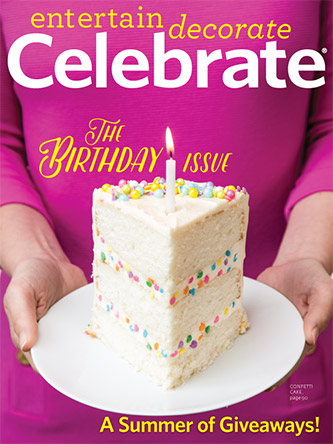 Birthday Party Ideas with Celebrate Magazine - BirdsParty.com