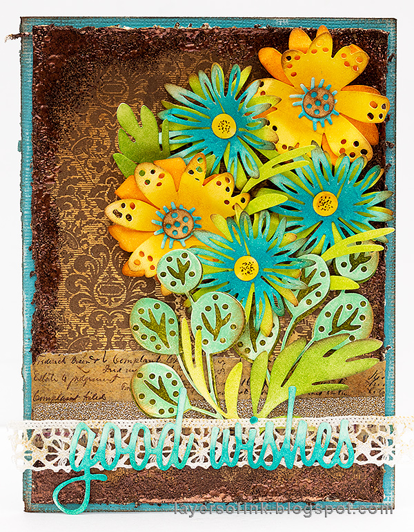 Layers of ink - Inky Blossoms Card Tutorial by Anna-Karin Evaldsson.