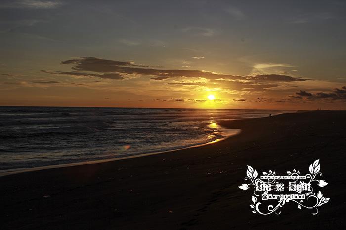 sunset indah