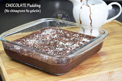 yummy chocolate pudding no chinagrass no gelatin pudding recipe creamy pudding easy and simple
