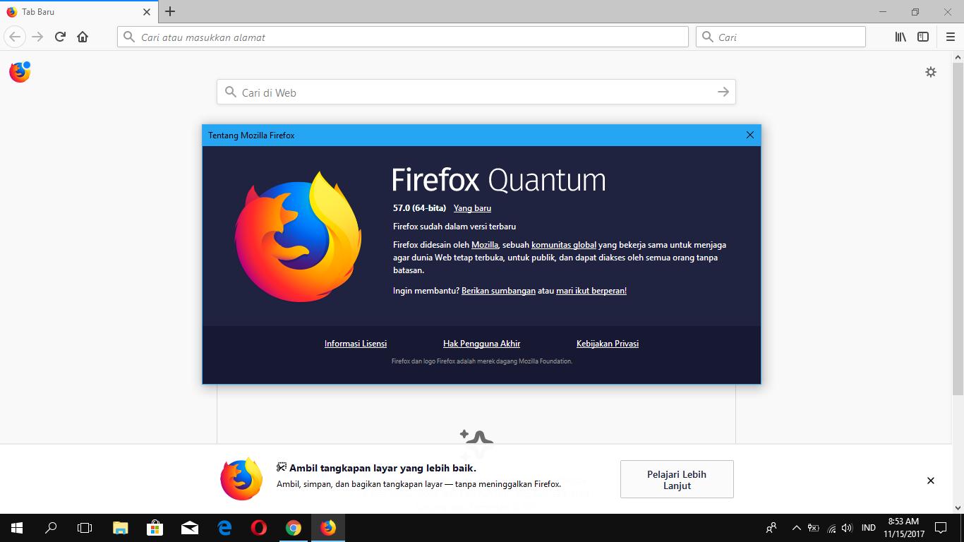 Update ke Firefox Quantum Sekarang