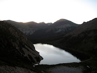 Snowmass Lake at sunrise