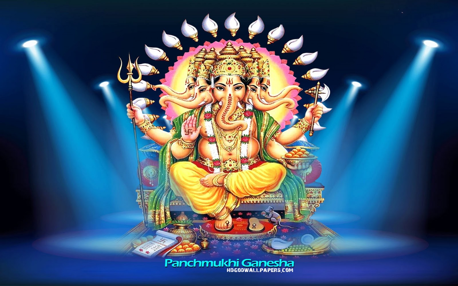 Panchmukhi Ganesh Images of God