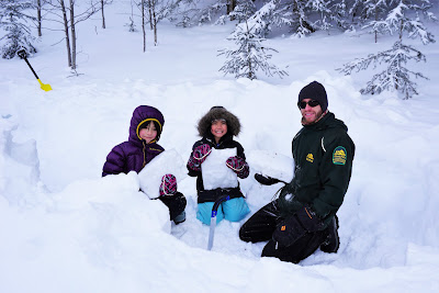 Igloo building program at Cypress Hills Provincial Park