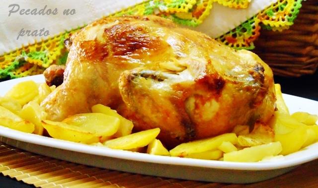 Receita de frango à bairrada