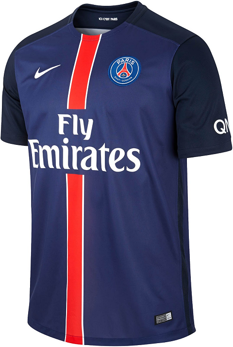 wholesale dealer 55569 b6675 Nike Paris Saint-Germain 2015/16 Football Jerseys