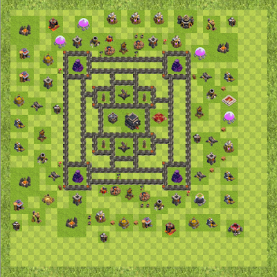 War Base Town Hall Level 9 By Rafaelkkjjjh (Caroline TH 9 Layout)