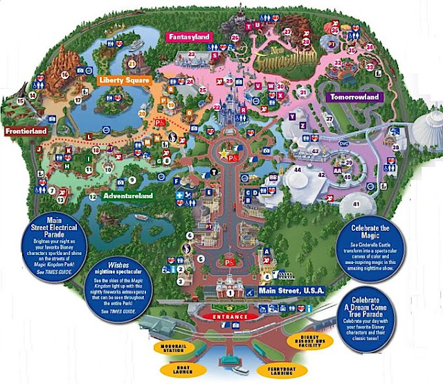 Roteiro pro Parque Magic Kingdom Disney em Orlando: Mapa