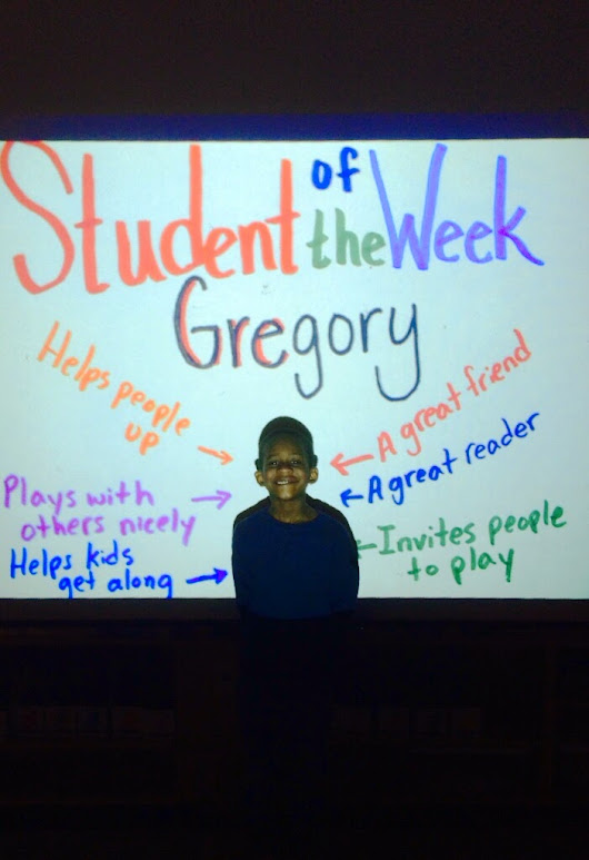 Congratulations To Gregory, Our Student Of The Week!
