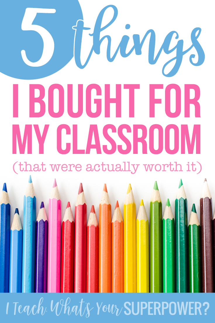 A few well planned purchases to keep your classroom organization and time management on track.