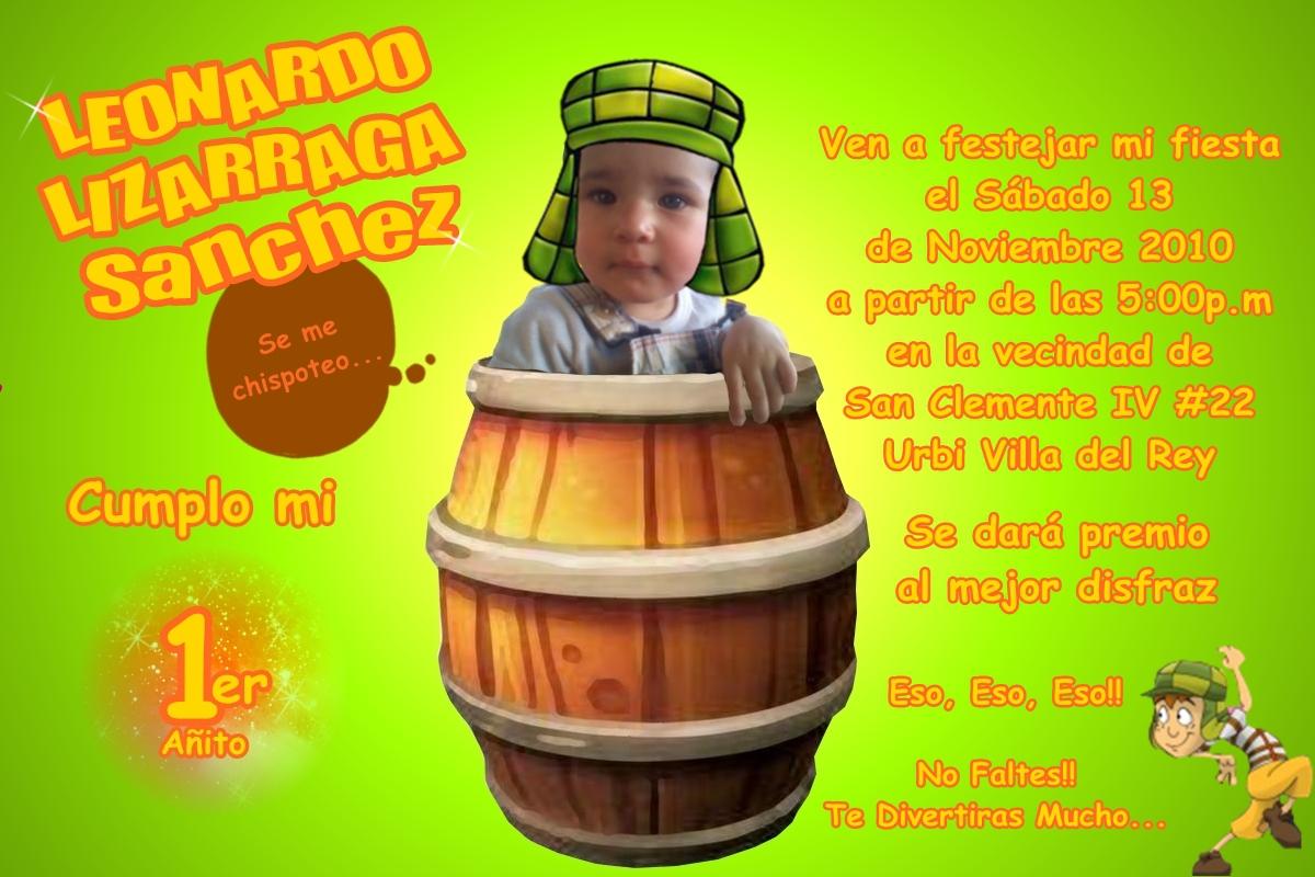 Tarjetas De Invitación Del Chavo Del Ocho Animado Imagui